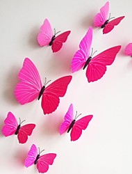 Wall Stickers Wall Decals, 12Pcs/Lot 3D PVC Magnetic rose Butterfly Sticker Home Stickers DIY Wall Stickers.