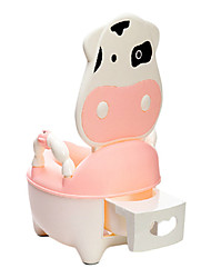 Childrens Training Potty Chair,Cute Plastic Pink Cow