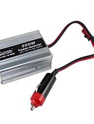 BEAUTY-CAR 200W DC 12V to AC 220V Car Power Inverter(Silver)