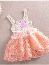 2.015 niñas fashionflower sundress del vestido de los vestidos sin mangas niña niños niños vestidos aumentaron