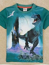 Boys T shirt Kids Summer Short Sleeves T shirt Green T shirt Dinosaur Printing Boys Tees