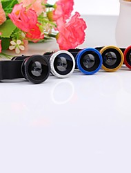 3 in 1 Wide Angle + Macro Kit Fisheye Mobile Phone Lens
