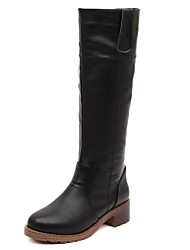 Women's Shoes Fashion Boots Round Toe Chunky Heel Knee High Boots