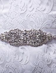Satin Wedding/Party/Evening/Daily Wear Sash - Rhinestone Women's Sashes