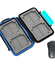 Rainbowimaging M3 and Water Proof Memory Card Case for 4 CF and 8 SD/ SDHC Cards (Black/Blue)