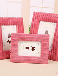Red Toweling Photo Frames Composition