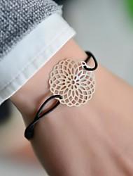 модные женщины круглый вырезать штамповки эластичной браслет