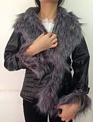 jnsy женщин с длинным рукавом тонкий моды v-образным вырезом сгущаться пальто