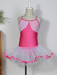 Kids' Dancewear Tutus / Dresses / Skirts Children's Cotton / Spandex / Tulle Sleeveless 110:50,120:53,130:56,140:59,150:61