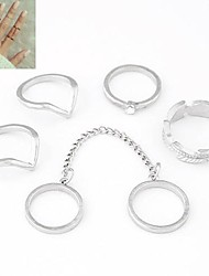 Women's Midi Rings Costume Personalized European Alloy Jewelry For Daily