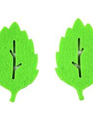 творческие листья формы нетканых чашки ткани коврики подстаканники - зеленый (2 шт)