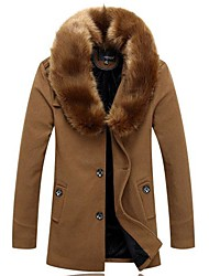 Men's Fur Collar Coat