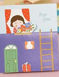 The Little Girl Cartoon Mini Card(6.0*7.0cm)