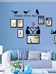 Wall Stickers Wall Decals  Photo Frames Feature Removable Washable PVC