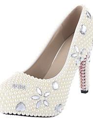 Feminino Wedding Shoes Saltos/Plataforma/Conforto/Bico Fechado Saltos Casamento/Ar-Livre/Social/Festas & Noite Bege