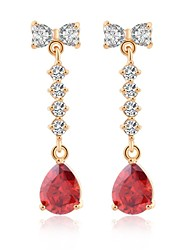 Woman's  Fashion Gold Zircon Crystal Ear
