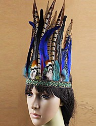 Native Indian Wild Feather Carnival Headband