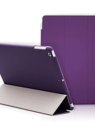 Para Case Tampa Com Suporte Origami Corpo Inteiro Capinha Côr Sólida Rígida Couro Ecológico para Apple iPad (2017) iPad Pro 9.7 '' iPad
