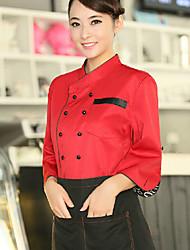 двубортный красный шеф-повар равномерное