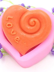 Love Heart Shaped Fondant Cake Chocolate Silicone Mold Cake Decoration Tools,L7.5cm*W7cm*H3.8cm