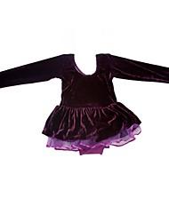 Ballet Kid's  Fashion Spell Velvet With Long sleeves Sleeves Dress Kids Dance Costumes