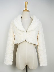 Fur Jacket Fashion Long Sleeve Turndown Faux Fur Party/Casual Jacket