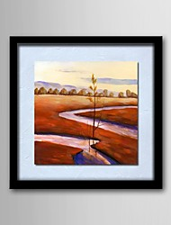 Oil Painting Scenery Hand-Painted Natural Linen Solid Wood Frame Frameless Paintings