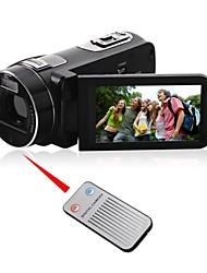 1080p haute définition caméscope numérique avec écran 3.0touch&télécommande&anti-shake