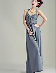 Holiday Lady Sheath Straps Ankle-length Milk Silk Formal Dress