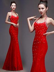 Vestido de Boda - Como la imagen (el Color y Estilo pueden variar según su monitor) Corte Sirena Hasta el Suelo - Joya