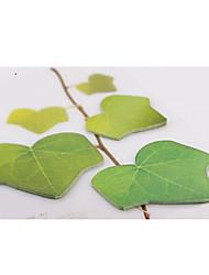3pcs albero a foglia a forma di note appiccicose (colore casuale)