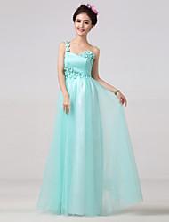 Floor-length Bridesmaid Dress A-line One Shoulder