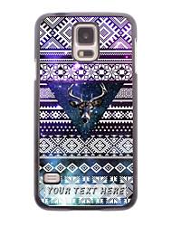 caja del teléfono personalizado - los ciervos en la caja de metal de diseño triangular para i9600 Samsung Galaxy S5