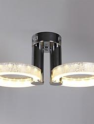 LED Acrylic Chandelier with 2 lights (Chrome Finish)