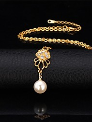 U7® Seashell Pearl Necklace 18K Real Gold Plated Rhinestone Pendant Necklace Fashion Jewelry