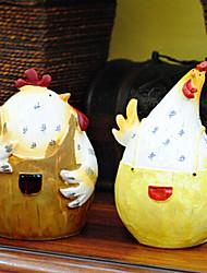 estilo country gordura pintinho da páscoa casal, 2pcs / set