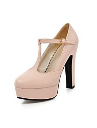 Women's Shoes Pointed Toe Chunky Heel Pumps with Buckle Shoes More Colors available