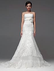 A-line Wedding Dress-Floor-length Strapless
