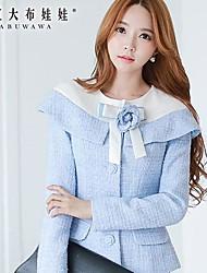 Pink Doll® Women's Fashion Flower Pattern Slim Woolen Coat