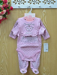Children's 4 pcs lot Kids Baby Pants+Long and Short Baby Romper+Bib Cotton Bodysuits 0-1 Romper Baby Jumpsuit