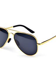 Polarized Women's Aviator Stainless Steel Retro Sunglasses