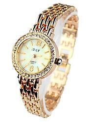 Women's Watch Bracelet Watch With Diamante Round Case