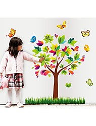 Wall Stickers Wall Decals, Style Colore Tree PVC Wall Stickers