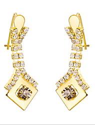 Yue Women's Causual Fashion Square Earrings