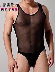 Men's Sexy Conjoined Triangle Lingerie Mesh/Nylon Undershirt