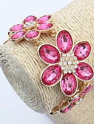 Women's Europe and the United States and bright flowers pop joker bracelet