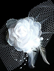 Fashion Bride Net Yarn Headdress Flower Hairpin