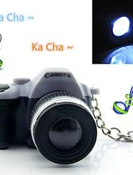 bonito mini lanterna led keychain câmera digital com som do obturador e luz LED