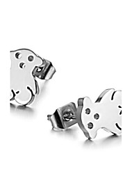 Women's Teddy Bear Titanium Steel Earrings