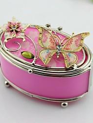 joyas caja de flores de color rosa